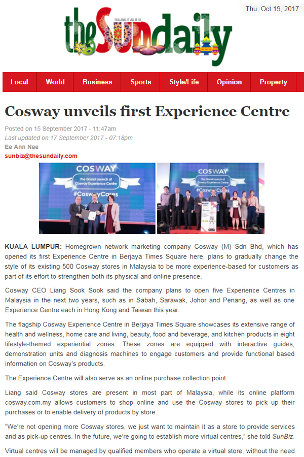 cosway m sdn bhd