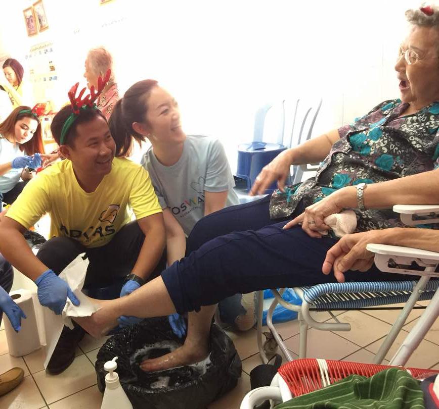 ampang old folks home foot spa