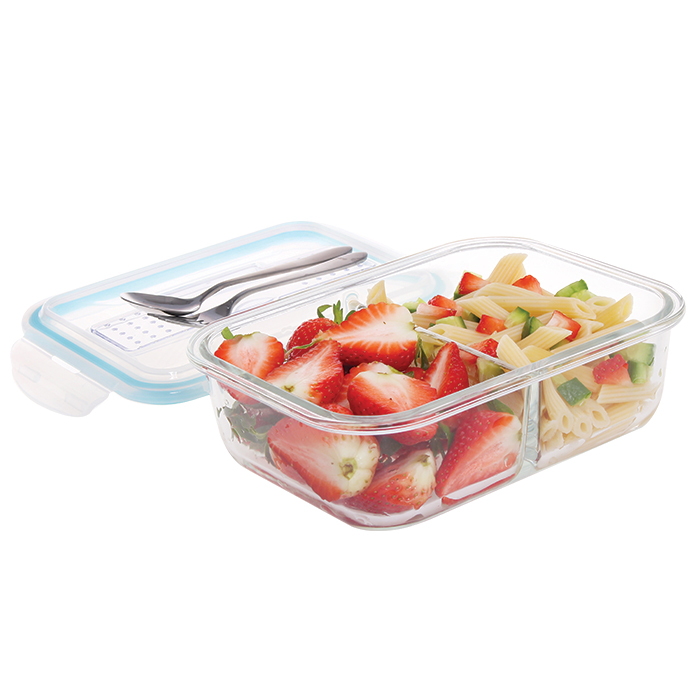2 Compartment Glass Lunch Box Cosway